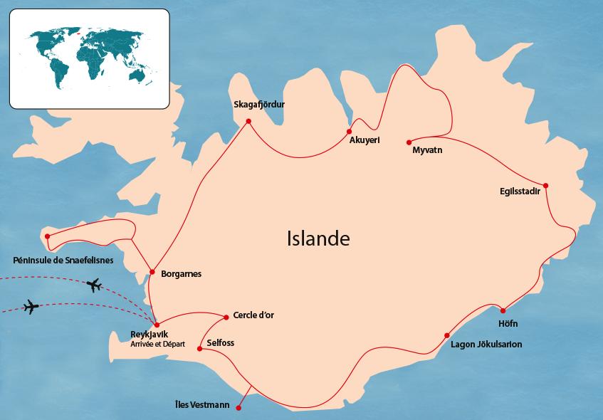 Carte Islande Avec Temps Trajet