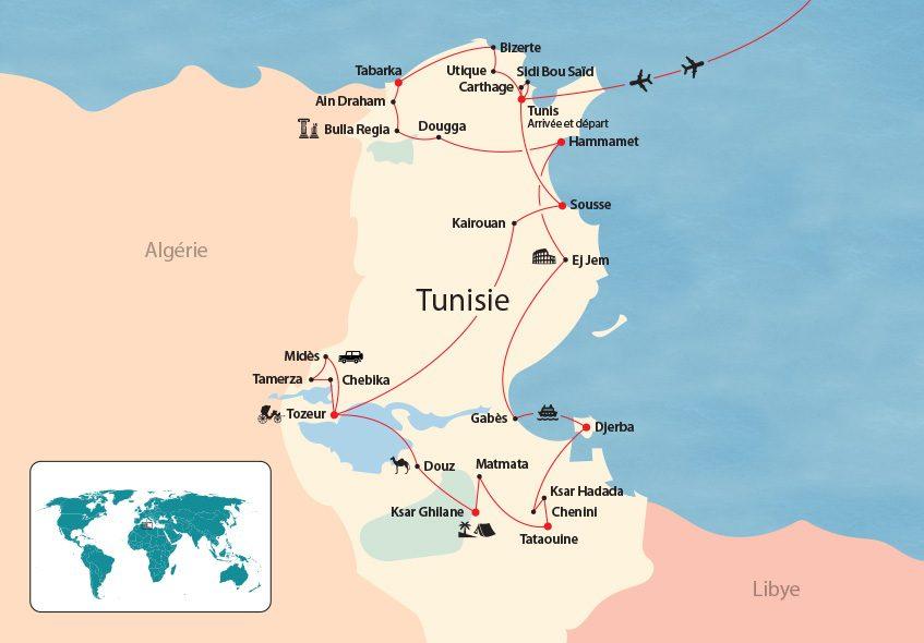 Tunisie map