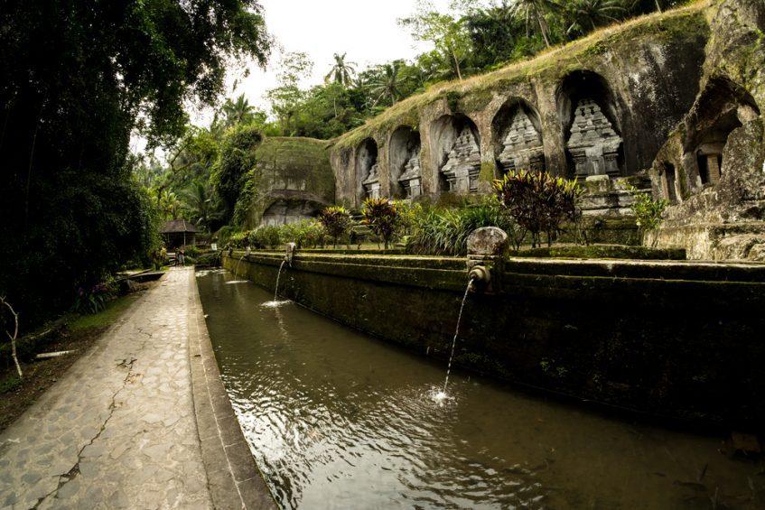 Région d'Ubud et le volcan Batur