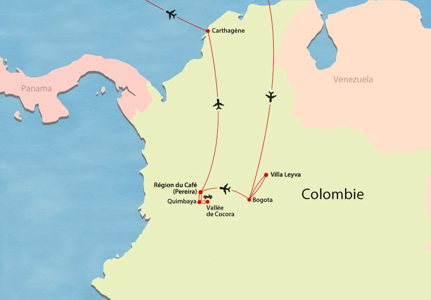 Colombie map