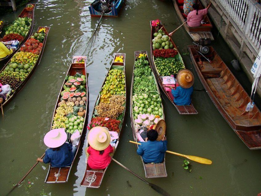 Bangkok - Marché flottant Damnoen Saduak - Rivière Kwai