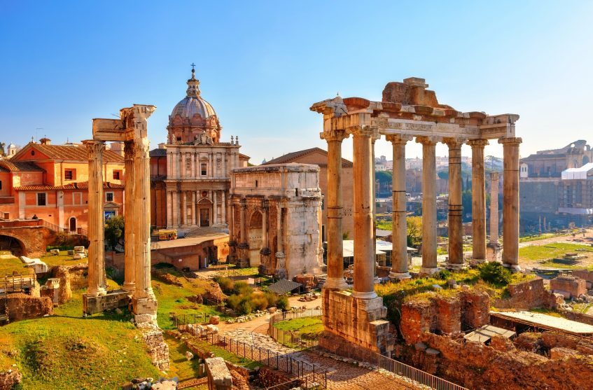 La Rome Antique et la Rome Baroque en Ape Calessino