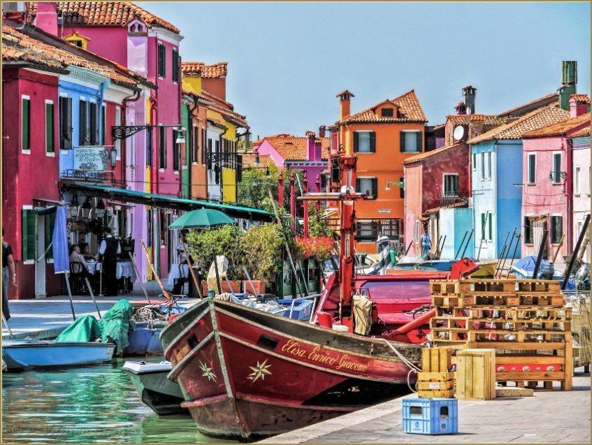 Arrivée à Venise  - Murano - Burano - Lido de Joselo (région de Venise)