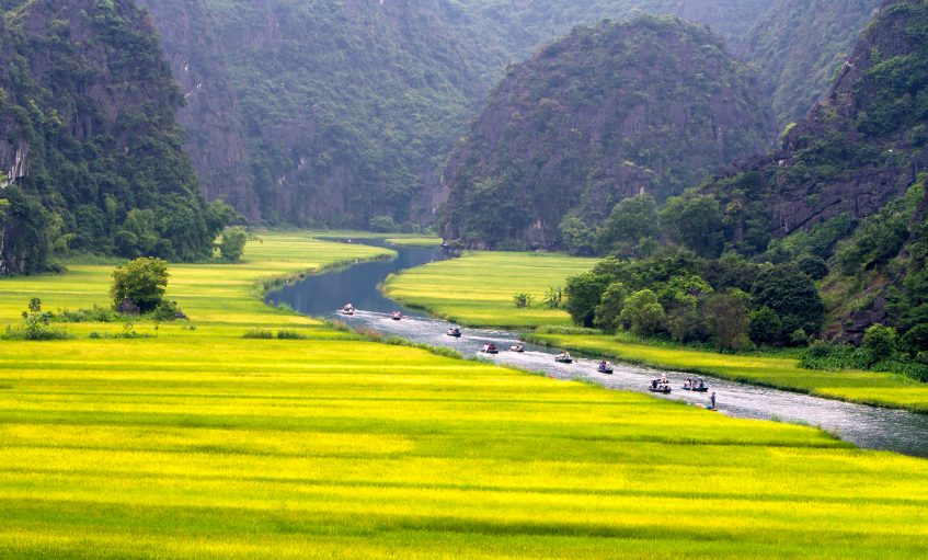 Ninh Binh  Hoa Lu - Baie d'Halong terrestre Tam Coc - Train de nuit