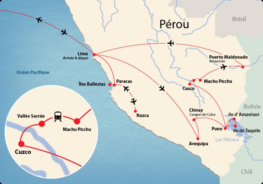 Pérou map