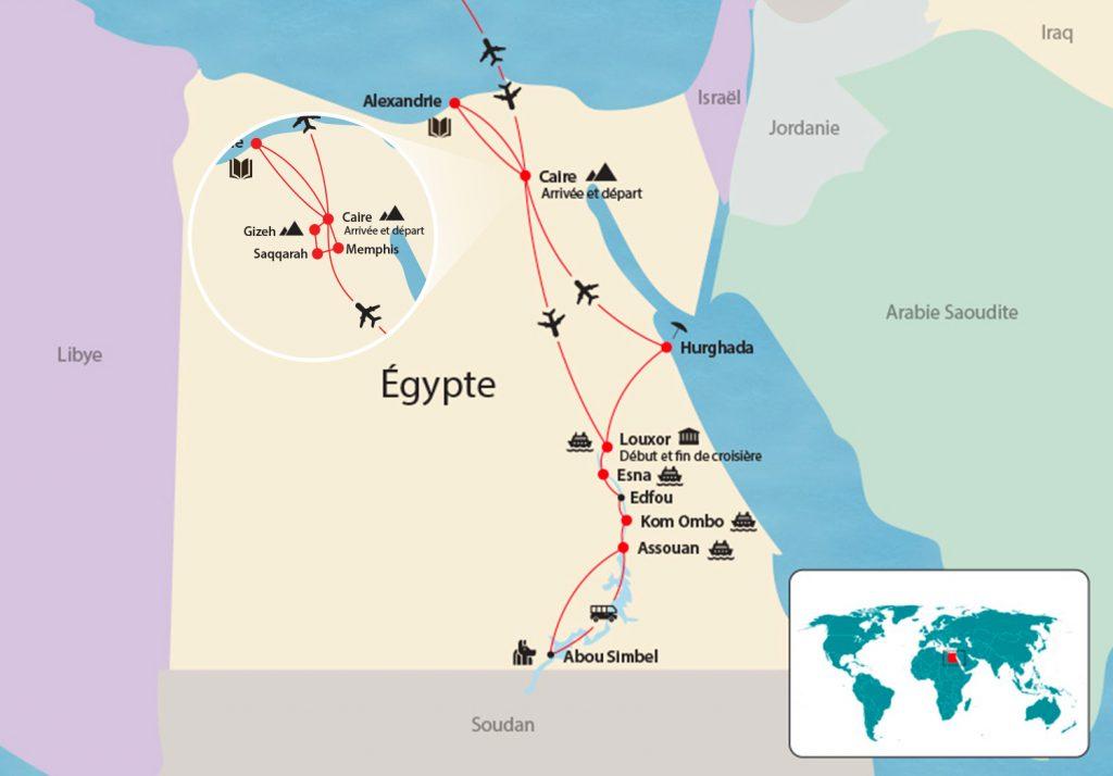 Égypte map