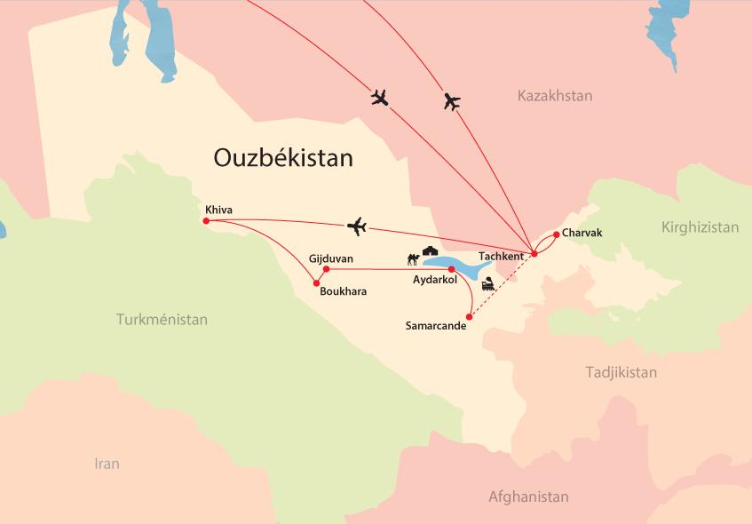 Ouzbékistan map