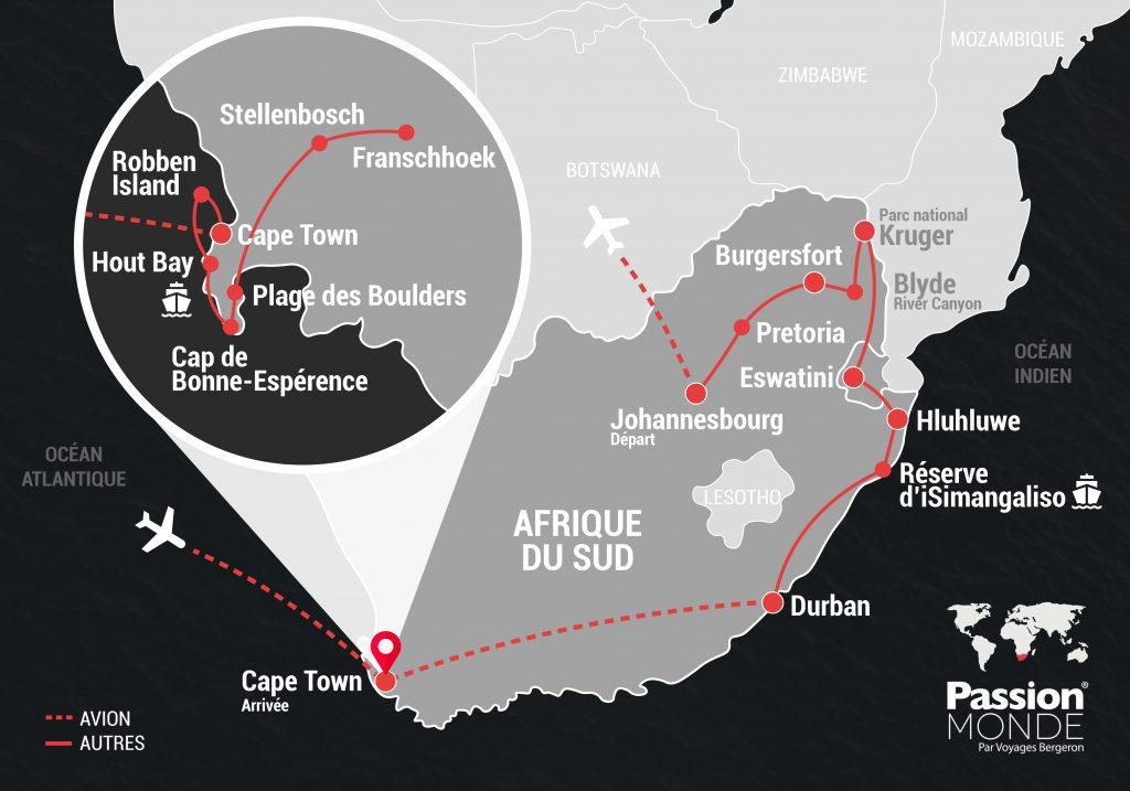 Afrique du Sud map