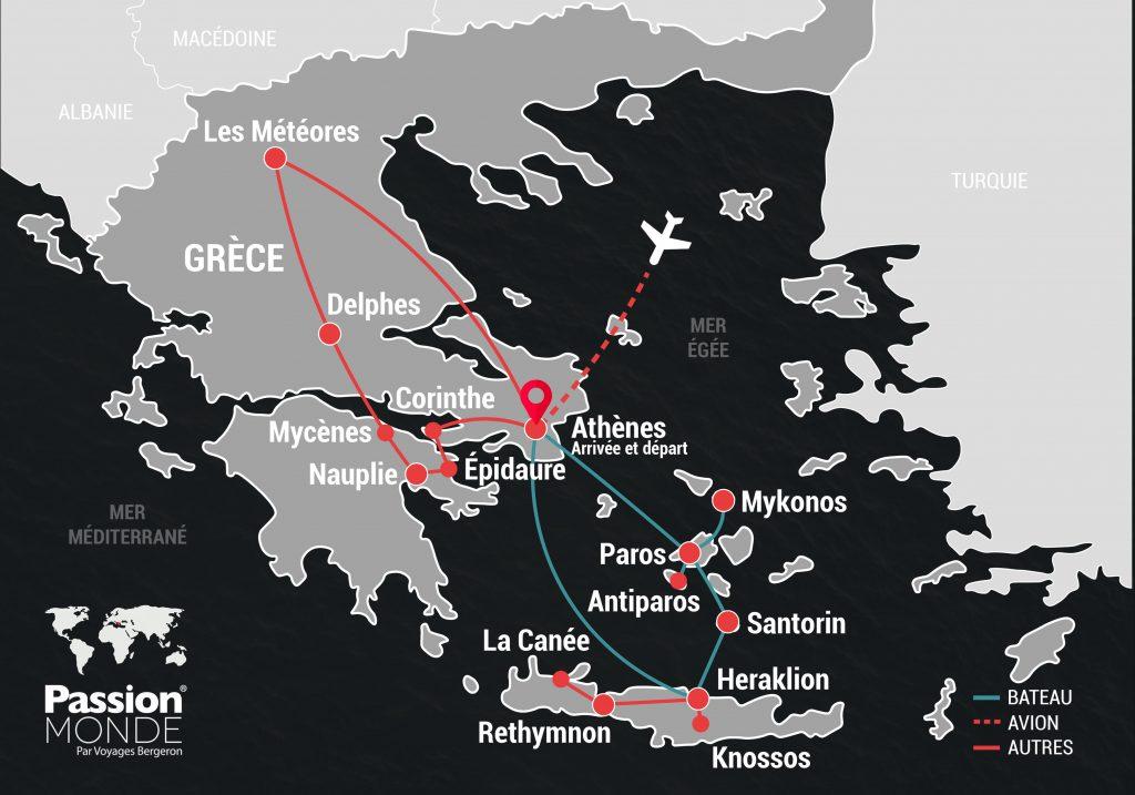 Grèce, ses îles et la Crète map