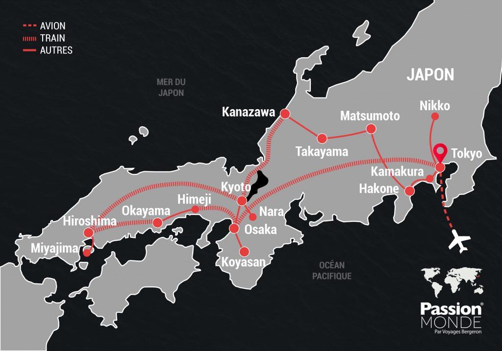 Japon map
