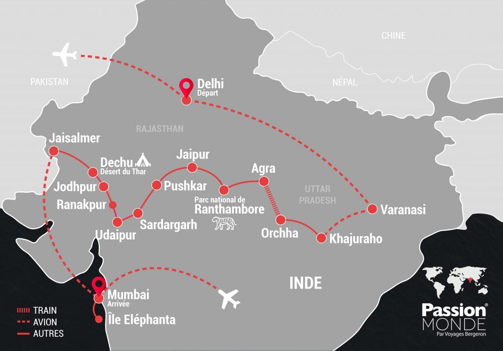 Inde du Nord map