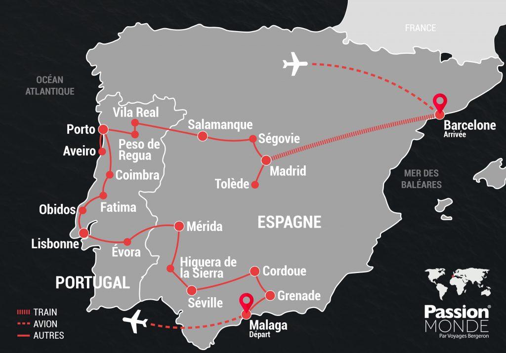 Espagne et Portugal map