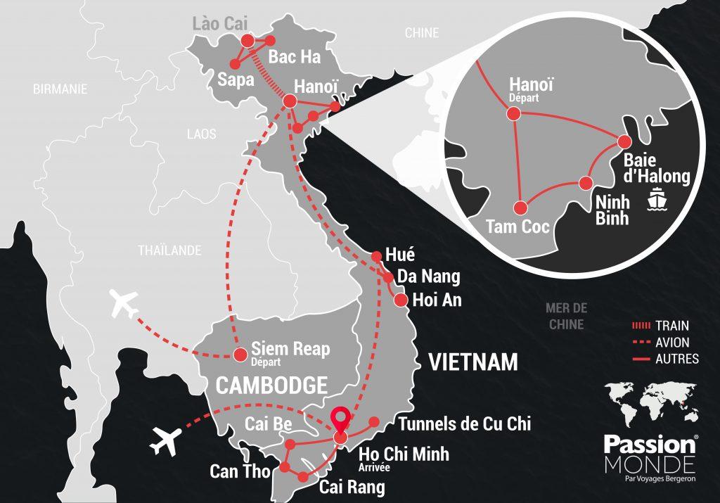 Vietnam et Cambodge map
