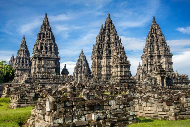 Surabaya - Train vers Yogyakarta - Temple de Prambanan